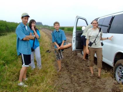 stuck in the mud :)