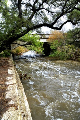 Shoal Creek after rain